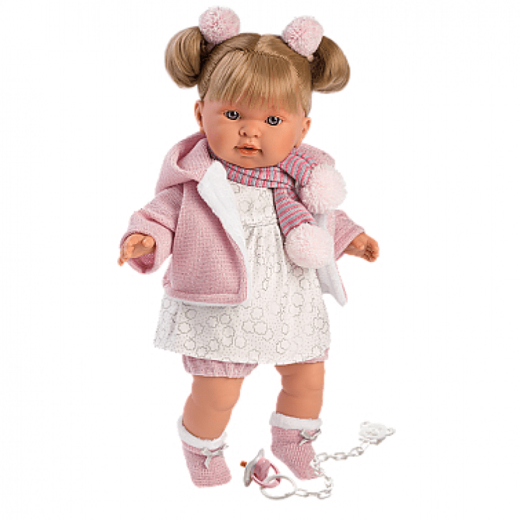 "Інтерактивна плачуча лялька ""Айтана"" в темно-рожевому - image-0"