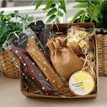 """Подарунковий набір """"Lady BOX + крем-мед"""". Пастила та фруктові чипси - image-0"""