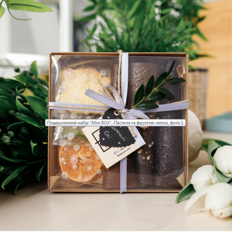 """Подарунковий набір """"Mini BOX"""". Пастила та фруктові чипси - image-0"""