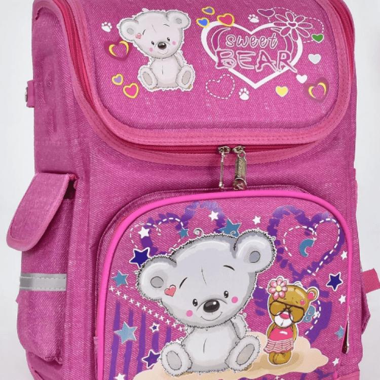 """Дитячий рюкзак """"Ведмедик 3"""" для дівчат - image-0"""