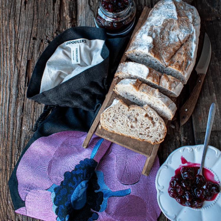 Хлібниця «Піон» (вишивка) - image-2