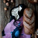 Хлібниця «Піон» (вишивка) - image-0