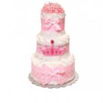 "Торт із памперсів ""Princess' Crown"" - image-0"