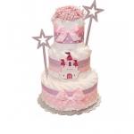 "Торт із памперсів ""Princess' Castle"" - image-0"