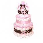 "Торт із памперсів ""Pink Chocolate"" - image-0"