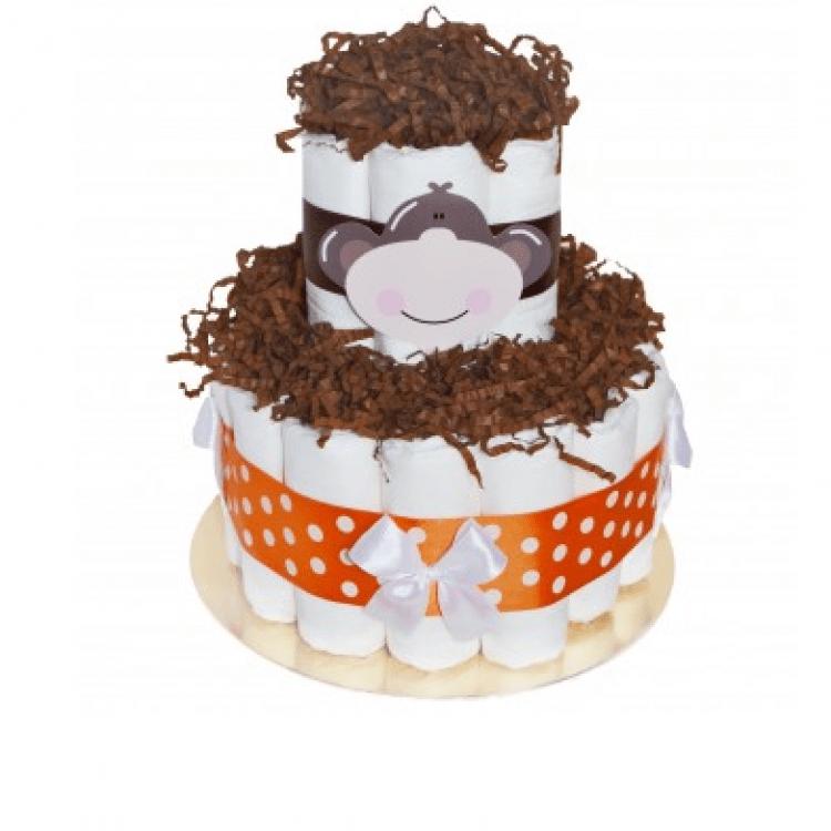 """Торт із памперсів """"Mini Monkey"""" - image-0"""