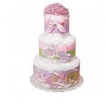 "Торт із памперсів ""FLowers and Butterflies"" - image-0"