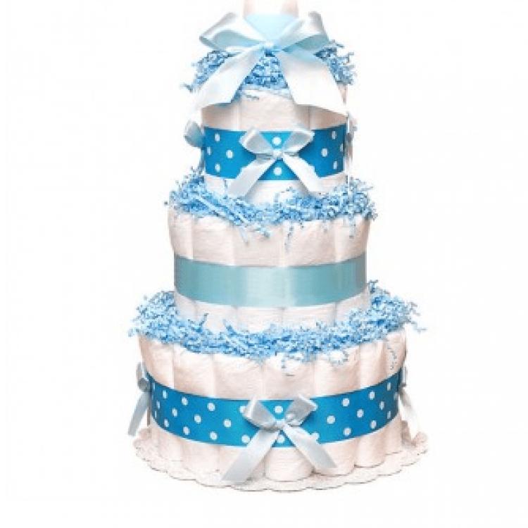 "Торт із памперсів ""Blue"" - image-0"
