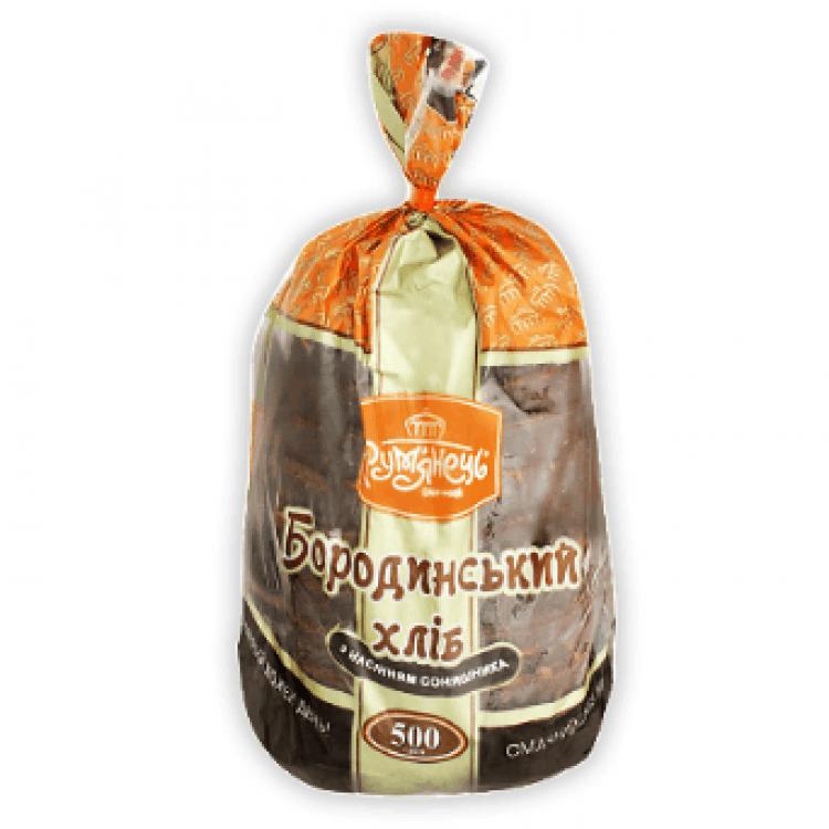 Хліб «Бородинський» з насінням соняшнику нарізаний - image-0