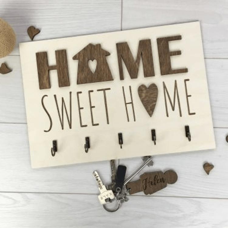 """Оригінальна дерев'яна ключниця """"Sweet home"""" - image-0"""