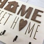 """Оригінальна дерев'яна ключниця """"Sweet home"""" - image-1"""