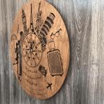 """Безшумний настінний годинник з дерева """"Мандри"""" - image-1"""