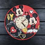 """Настінний годинник з дерева """"Міккі Маус"""" - image-0"""