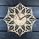 """Дерев'яний настінний годинник  """"Мандала"""" - image-0"""