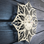 """Дерев'яний настінний годинник  """"Мандала"""" - image-1"""