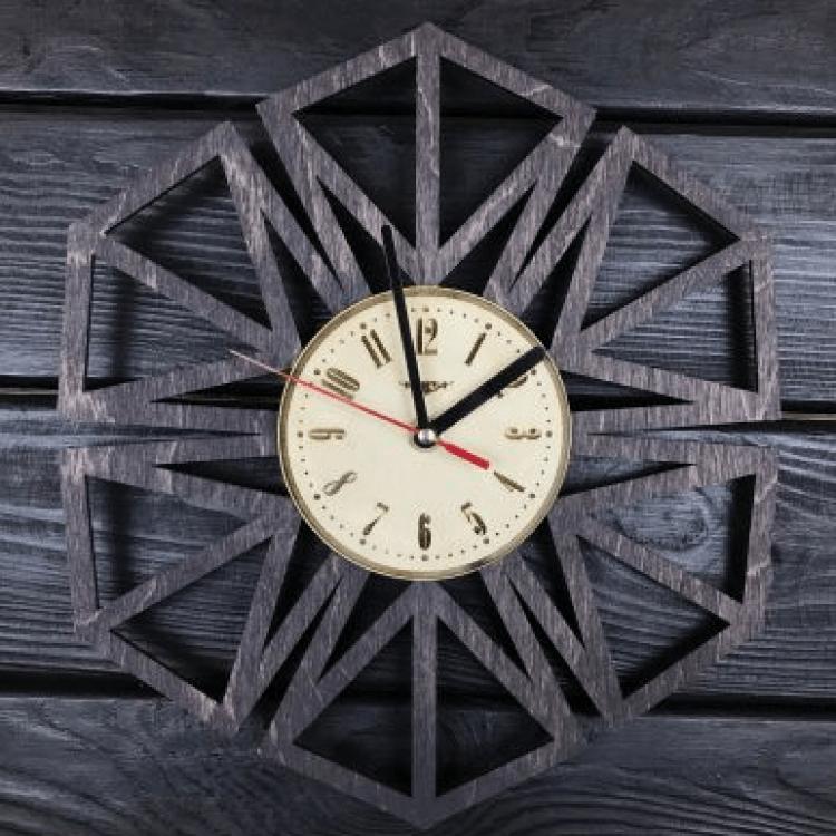 """Дерев'яний настінний годинник  """"Геометрія"""" - image-0"""