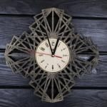 """Дерев'яний настінний годинник  """"Павутина"""" - image-0"""
