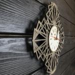 """Дерев'яний настінний годинник  """"Павутина"""" - image-1"""