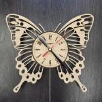 """Дерев'яний настінний годинник  """"Метелик"""" - image-0"""