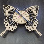 """Дерев'яний настінний годинник  """"Метелик"""" - image-1"""