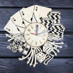 """Дерев'яний настінний годинник  """"Лас Вегас"""" - image-0"""