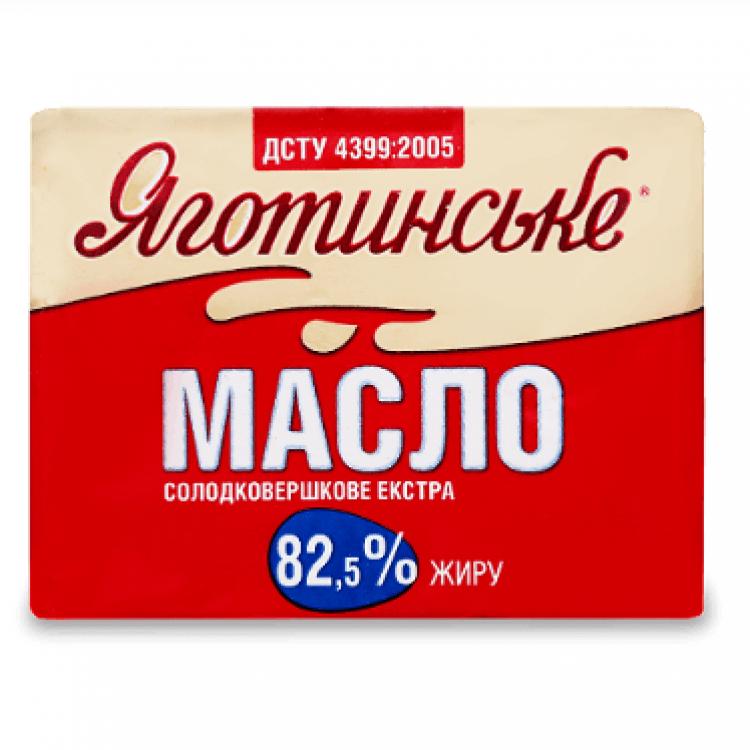 Масло солодковершкове «Яготинське» 82,5%,  200 г - image-0