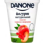 Йогурт Danone персик-смородина 2,5%, 260 г - image-0