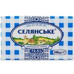Масло солодковершкове «Селянське» 72,5%, 200 г - image-0