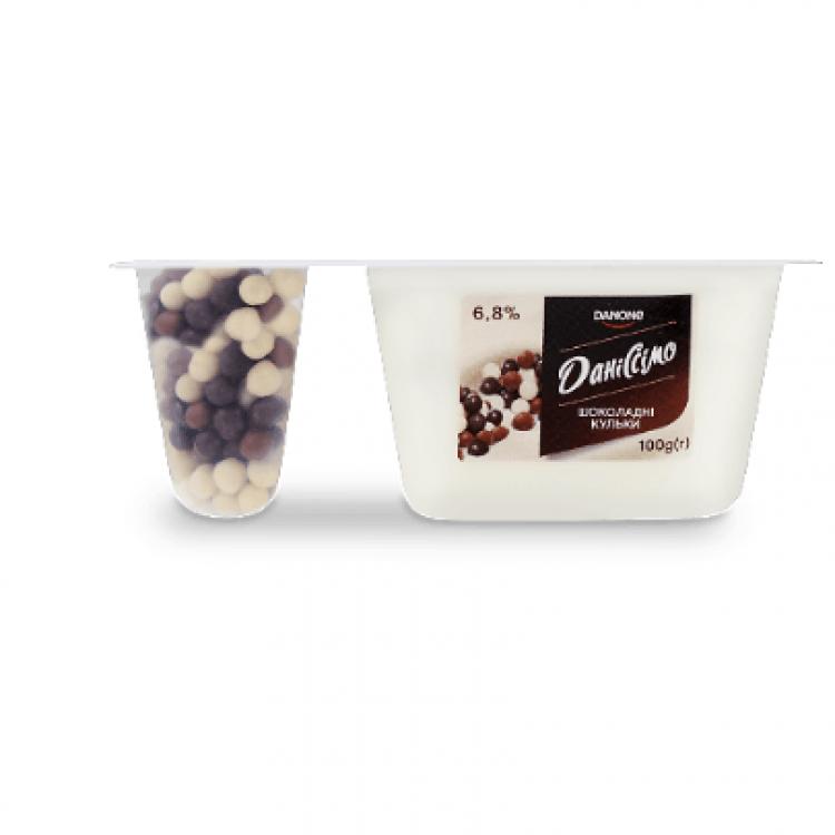 Йогурт «Даніссімо»  шоколад, 6,8%, 100 г - image-0
