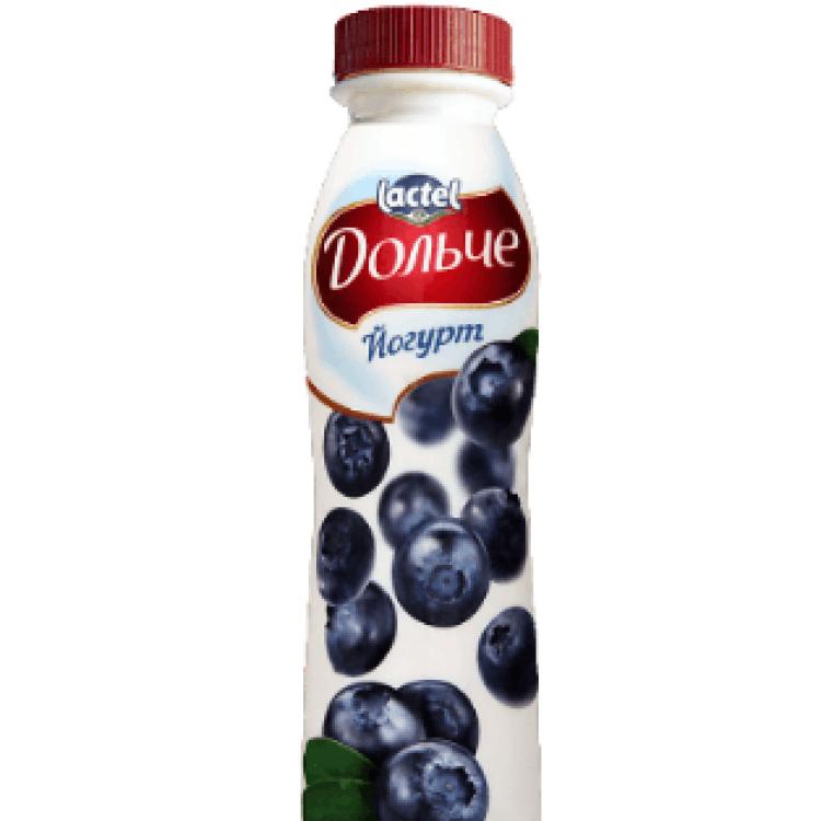 Йогурт «Дольче» чорниця 2,5%, 290 г - image-0