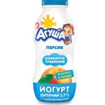 Йогурт «Агуша» дитячий персик, 200 г - image-0