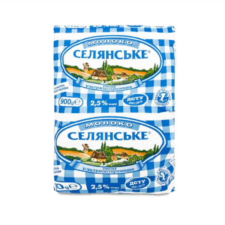 Молоко «Селянське» питне, 900 г - image-0