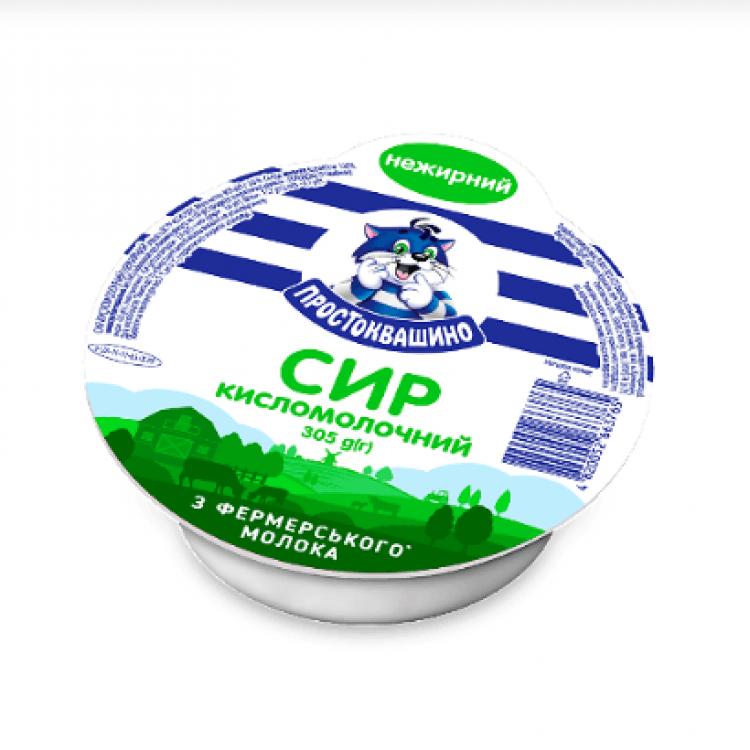 Сир «Простоквашино» нежирний, 305 г - image-0