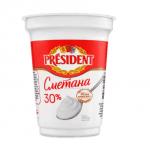 Сметана President 30%, 350 г - image-0