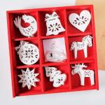 """Набір новорічних іграшок """"Зимові візерунки"""", 24 шт. - image-0"""
