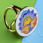 """Кільце-тримач """"Квітка"""" - для хустки 90х90 см - image-0"""