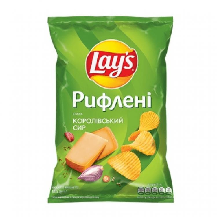 Чіпси 133г зі смаком королівського сиру - image-0