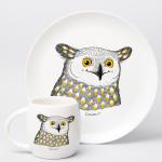 """Набір тарілок та чашок """"Сова"""" - image-3"""