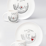 """Набір тарілок та чашок """"Киця"""" - image-0"""