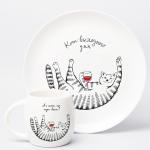 """Набір тарілок та чашок """"Киця"""" - image-2"""