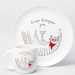 """Набір тарілок та чашок """"Киця"""" - image-1"""
