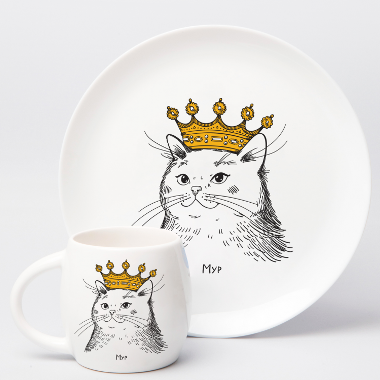 """Набір тарілок та чашок """"Королівська сім'я"""" - image-4"""