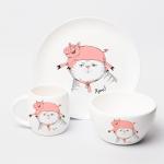 "Набір тарілок та чашок ""Хрю"" - image-1"
