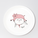 "Набір тарілок та чашок ""Хрю"" - image-2"