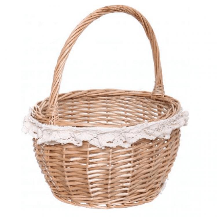 Корзина плетена з текстилем - image-0