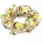 Вінок великодній з яйцями і квіточками - image-1