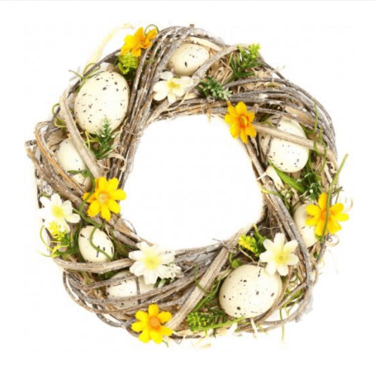 Вінок великодній з яйцями і квіточками - image-0