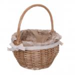 Кошик плетений з текстилем, 28/22х18/35 см - image-0