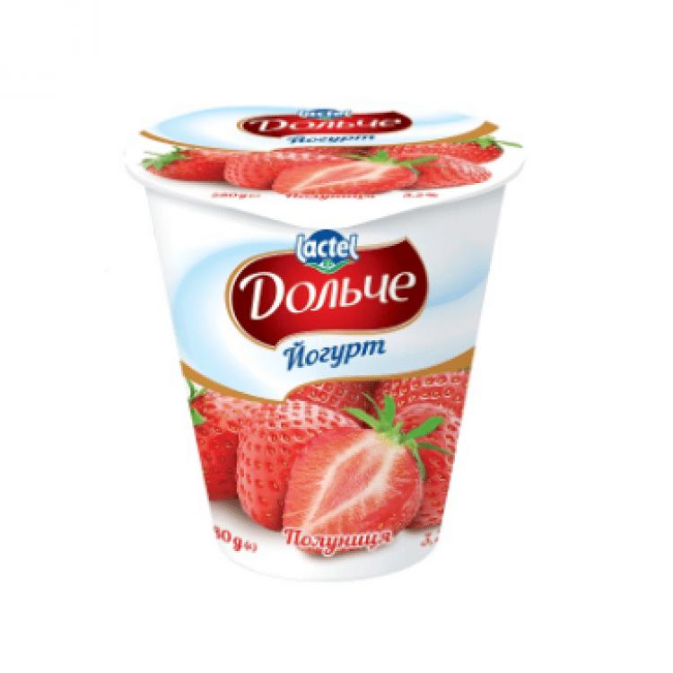 Йогурт з полуницею, 280 г - image-0