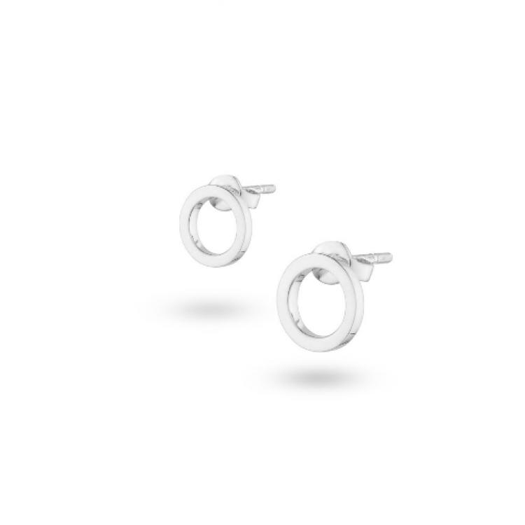 """Срібні сережки """"Коло"""", 7 мм - image-0"""